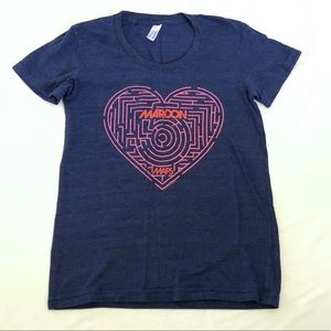 Maroon 5 Maps graphic band tee sz s